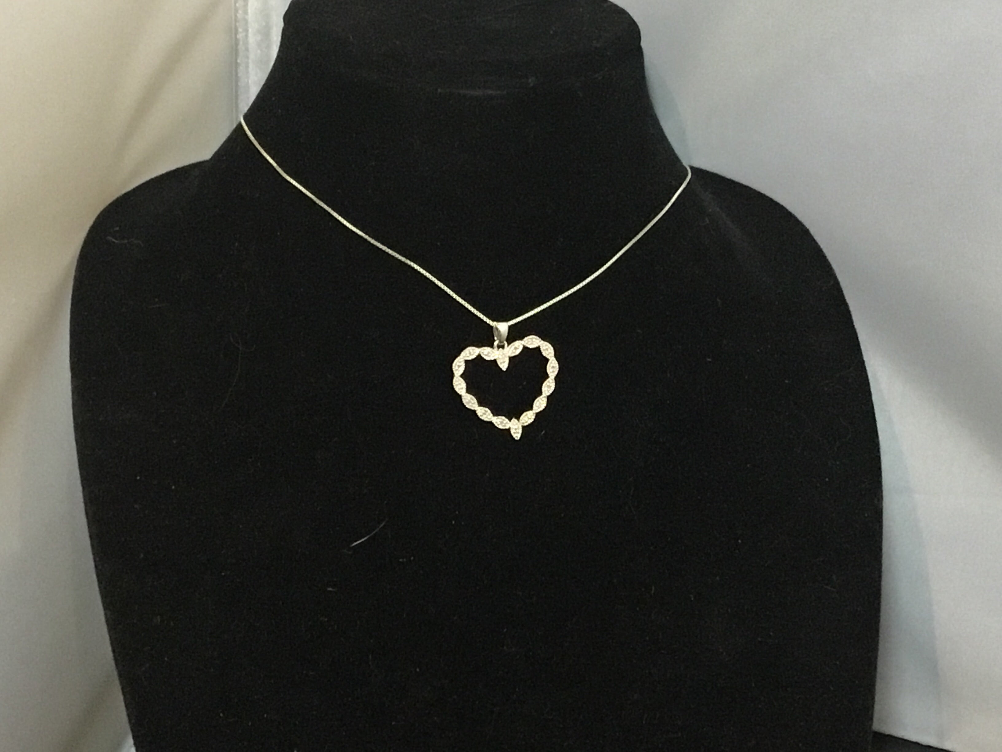 Sterling & Diamond Heart Pendant