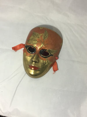 Brass Mask wall-hanging - e