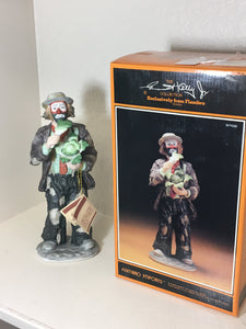 "Flambro Emmet Kelly Jr Collection Mint in Box ""Cabbage Eater"""