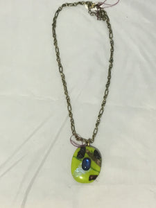Green Pendant with Chain