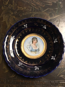"German Decorative Plate ""Marie Louise"""