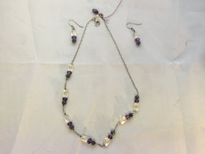 Delicate Crystal Necklace and Earring Set