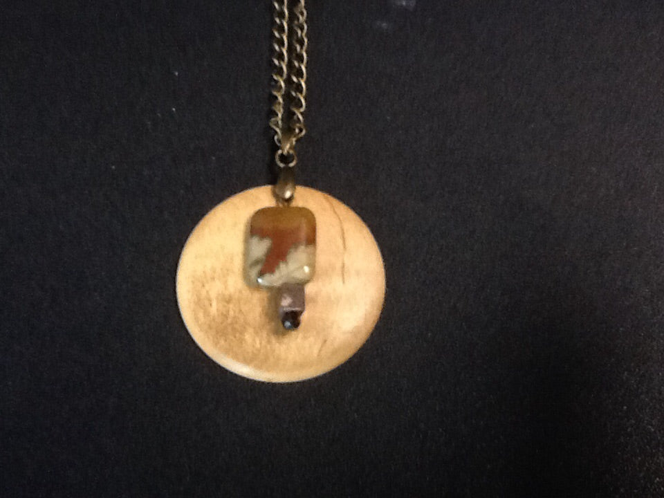 Handcrafted Necklace of Brown Dendritic Agate by Steve Cipolla