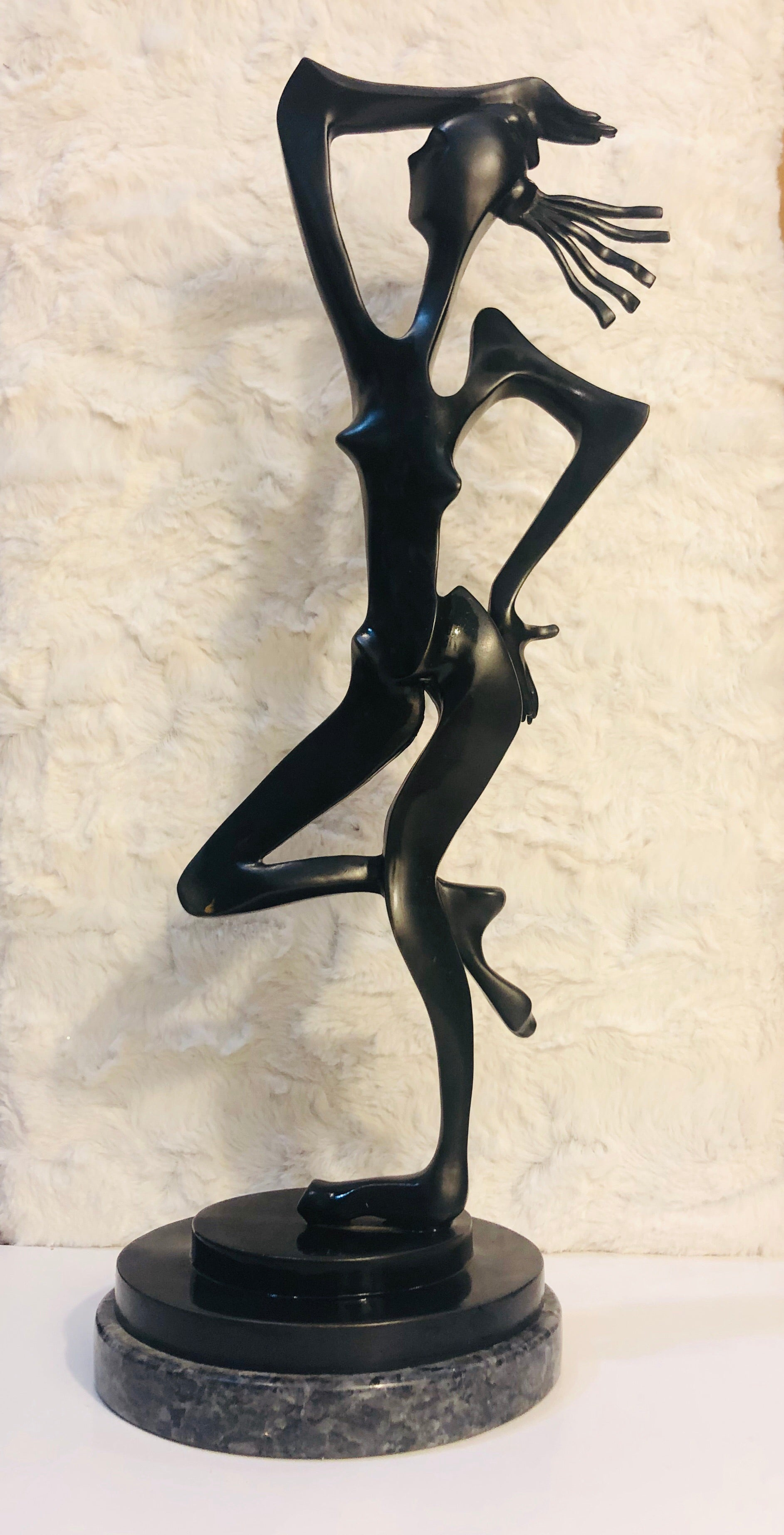 """Female Dancer"" (2 Piece Set) Seragraph and Bronze Scultpure by Phil Spanier"