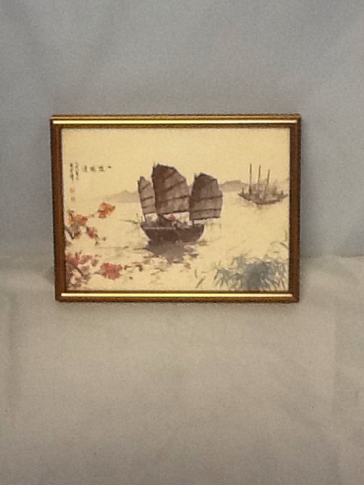 Framed Chinese Reproduction - Sailing Vessel