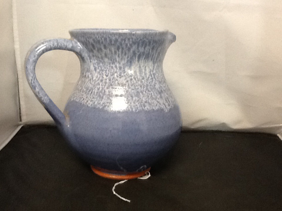 Blue Glazed Water Pitcher from Barbados