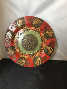Hand-painted Wooden Plate
