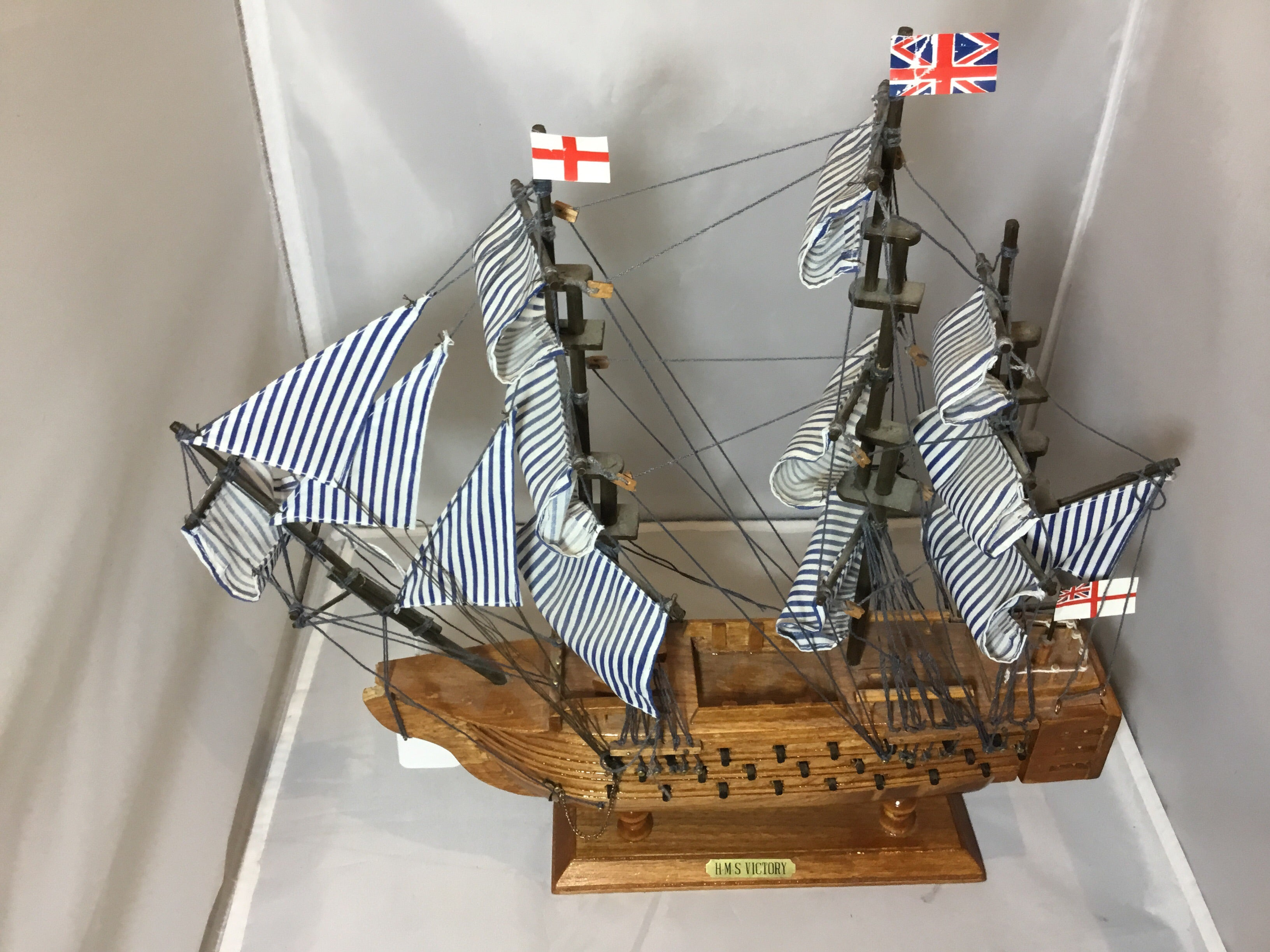 H.M.S. Victory Wooden Model Ship - eet