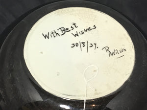 RA Wilson Signed Rabbit Bowl from 1937 - eet