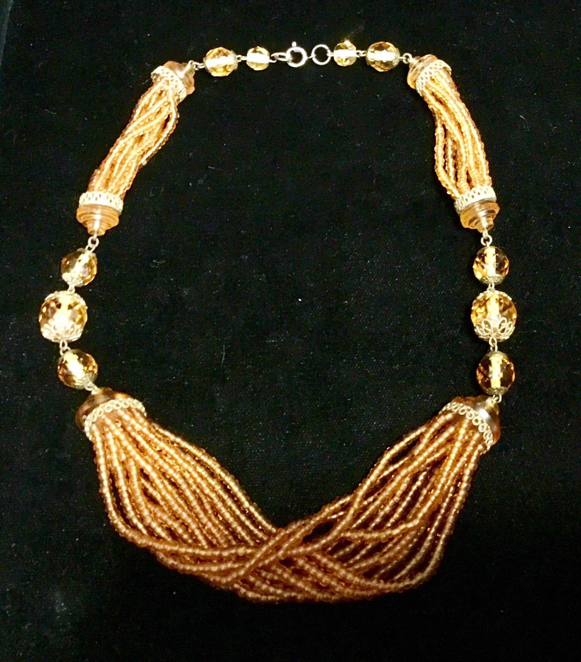 Vintage Orange Micro-Beaded necklace