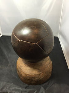 Hand-carved Soccer Ball