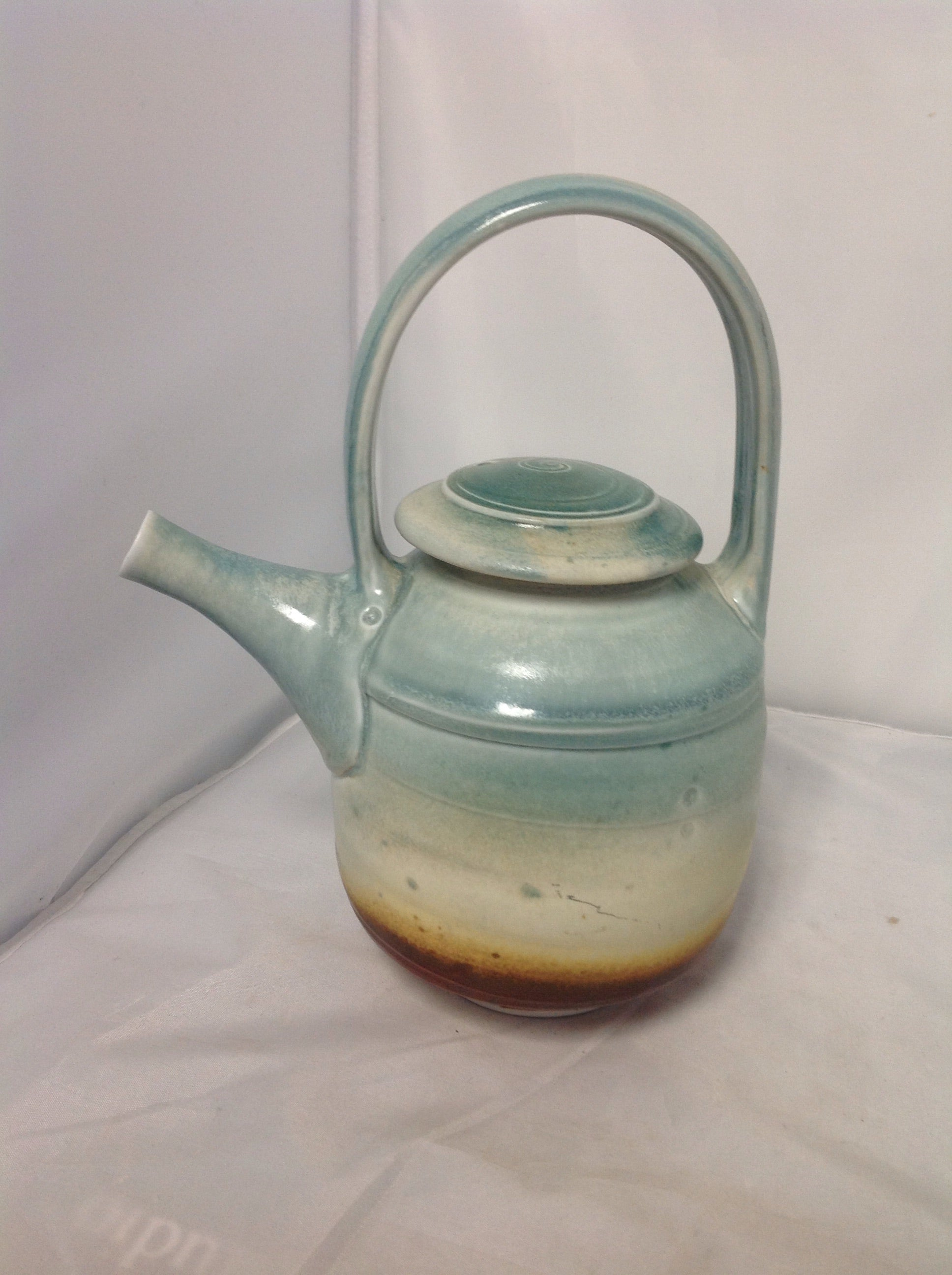Handmade Sunset teapot pottery by Willow Connery