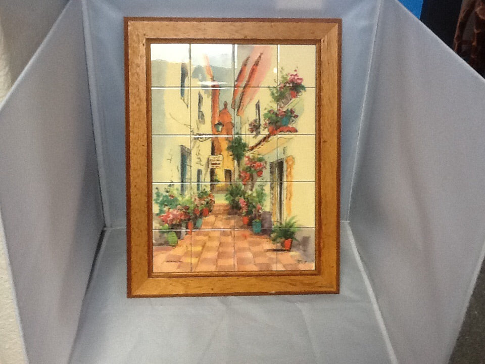 Framed Spanish Tile Costa del Sol