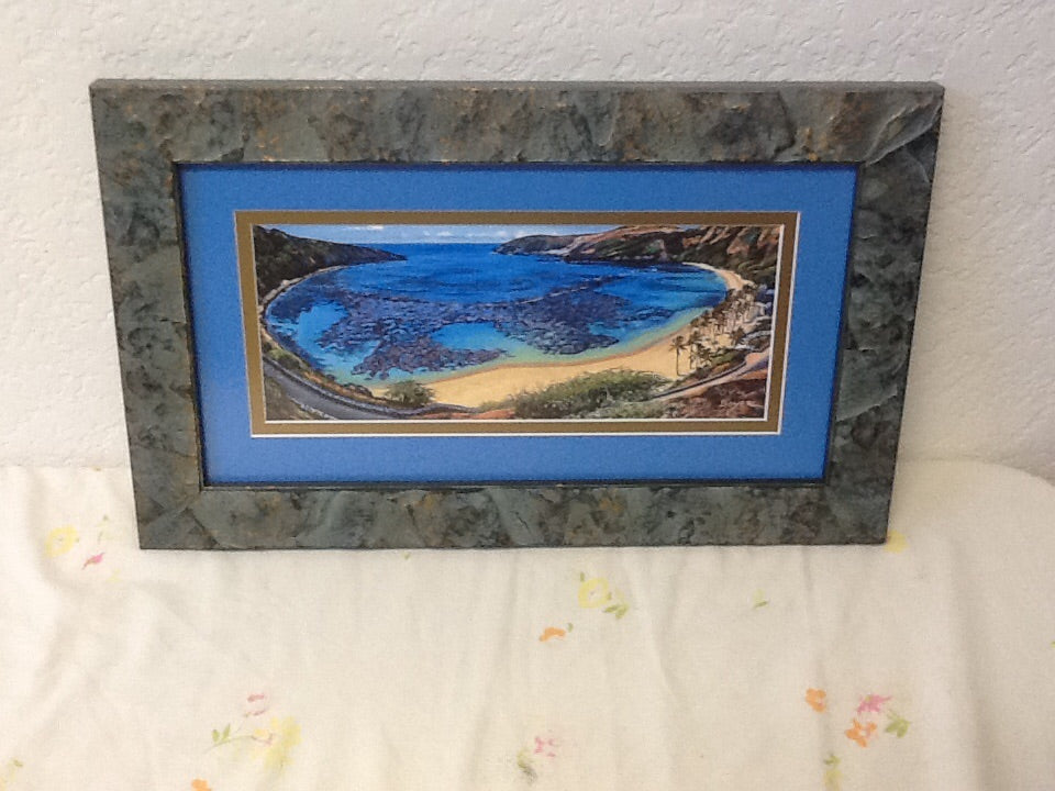Framed Hanauma Bay Limited Giclee by Boyer