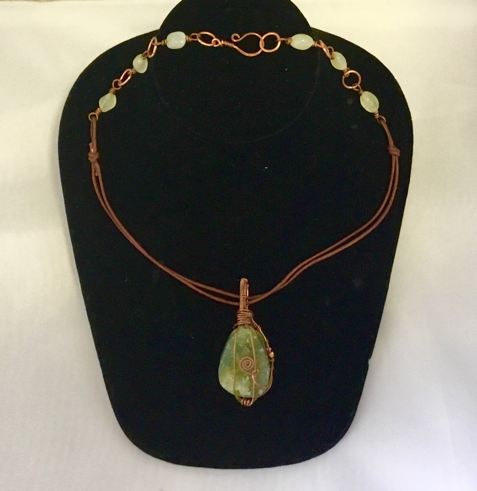 Copper wrapped Howlite necklace