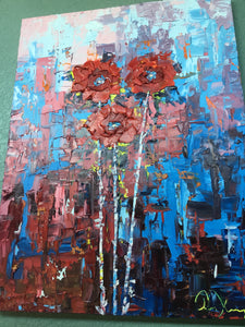 """Splendid Bloom"" Original Oil by Tim Kenney"