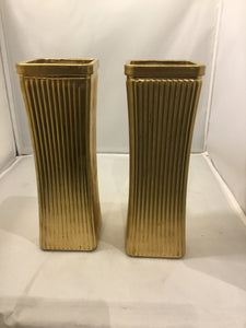 Fluted Vases, Set of 2