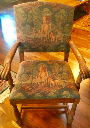 Feudal Oak Embroidery Cowboy Chairs (Set OF 5)
