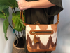 Ikat brown volcano mini day bag - etnico culture
