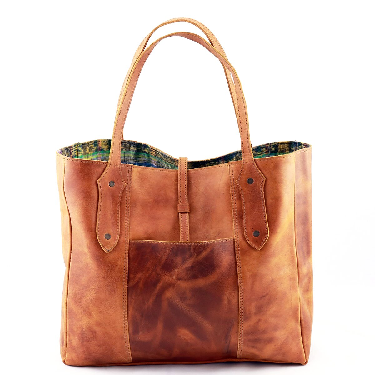 Antigua Mini Leather Tote - etnico culture