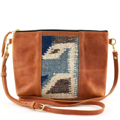 "Lana Clutch Cross Body with Tan Leather (1"" base)"