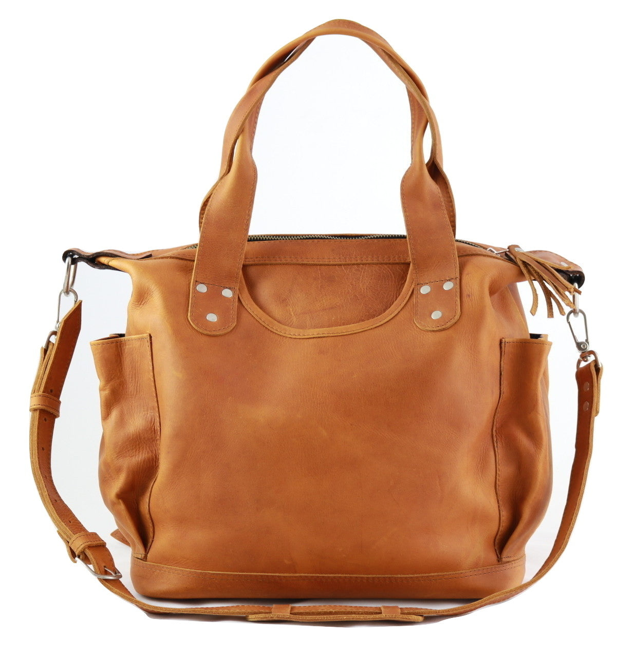 Tenango CDB - Convertible Day Bag all Tan Leather