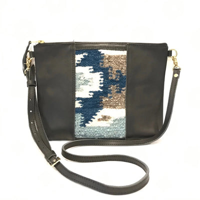 "Lana Clutch Cross Body with Black Leather (1"" base)"