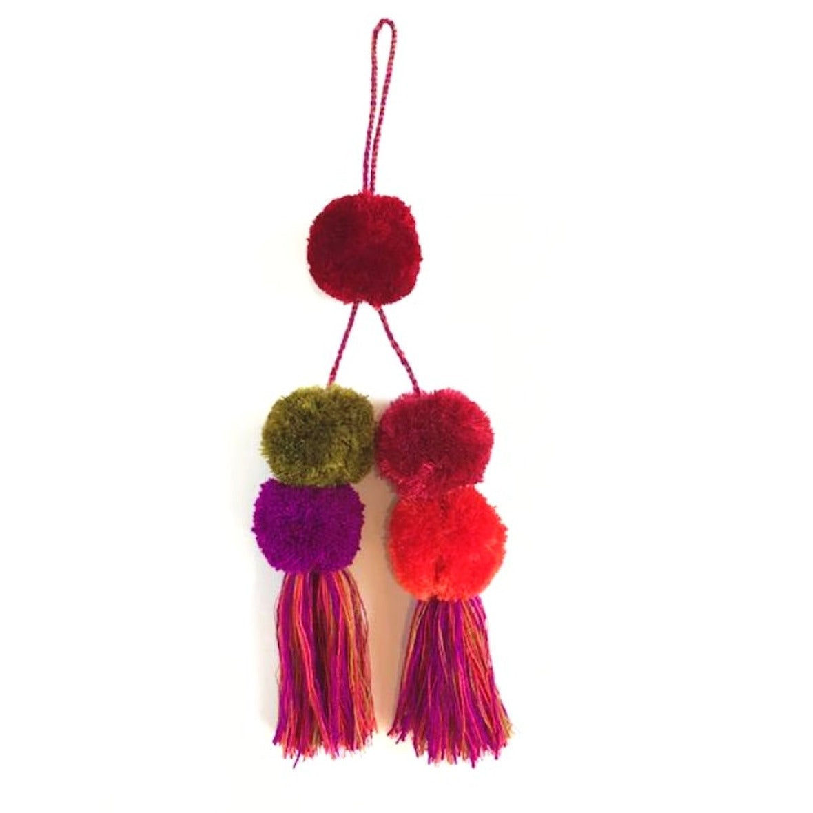 Solola Pom-pom multicolor Red
