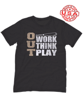 who's on first, three outs unisex t-shirt made in the usa black