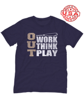 who's on first, three outs unisex t-shirt made in the usa navy