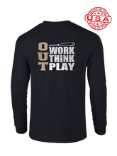 who's on first three outs long sleeve shirt black