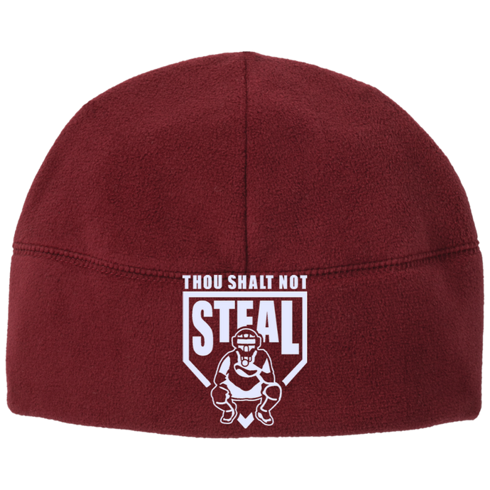 Thou Shalt Not Steal beanie from Who's On First red