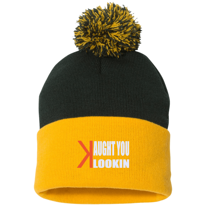 Kaught You Lookin, Pom Pom Knit Cap