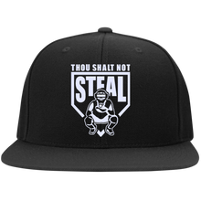 Thou Shalt Not Steal flat bill snapback hat from Who's On First black