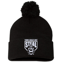 Thou Shalt Not Steal pom pom knit cap from Who's On First black