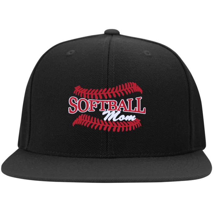 Softball Mom, Flat Bill Snap Back