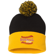 Baseball Dad, Pom Pom Knit Cap