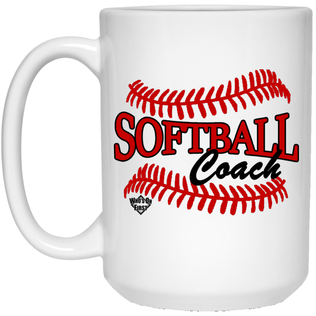 Softball Coach, 15oz Mug