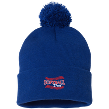 Softball Dad, Pom Pom Knit Cap