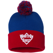 Who's On First, Pom Pom Knit Cap