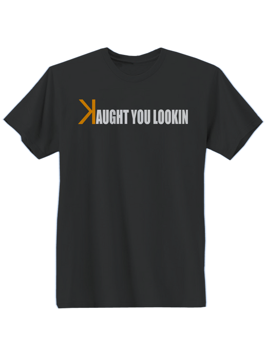 who's on first caught kaught you looking youth shirt black