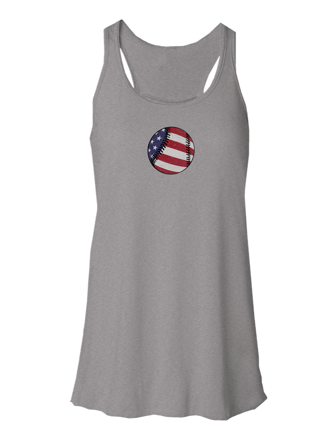 whos on first american baseball flowy tank athletic heather