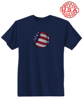 whos on first american baseball shirt navy