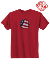 whos on first american baseball shirt red