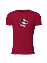 whos on first american baseball slim fitted shirt red