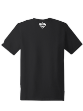 who's on first short sleeve tshirt who's up? back of shirt with logo