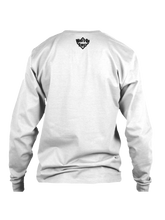who's on first white logo on back of long sleeve shirt