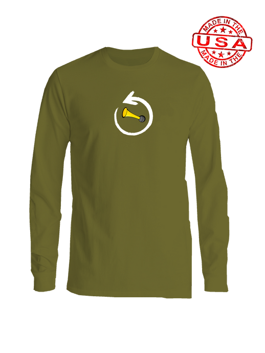 whos on first around the horn baseball shirt long sleeve olive