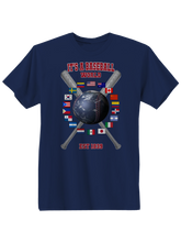 who's on first baseball around the world youth t-shirt navy