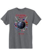 who's on first baseball around the world youth t-shirt asphalt
